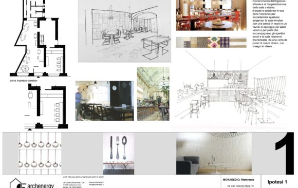 Ipotesi di progetto ristorante a MILANO